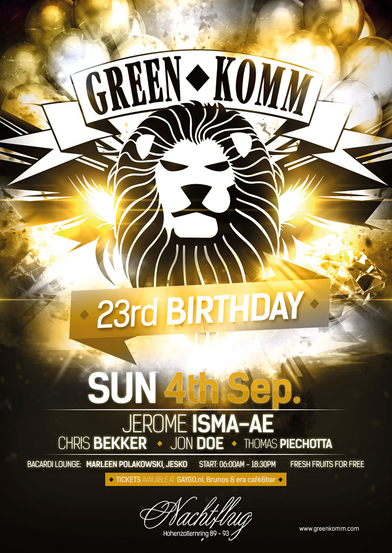 Green Komm 23rd birthday